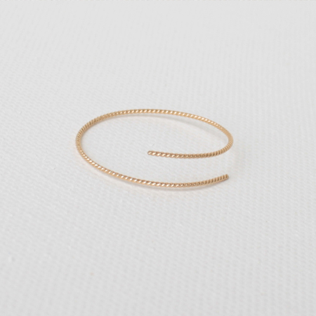 Eternal Hoop 14K Gold Earrings