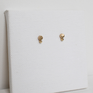 Double Dot 14K Gold Earrings