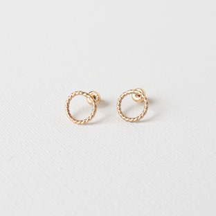 Mini Hoop 14K Gold Earrings