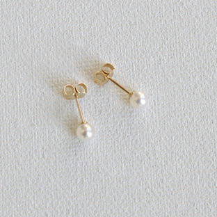 White Akoya Pearl 14K Gold Earrings
