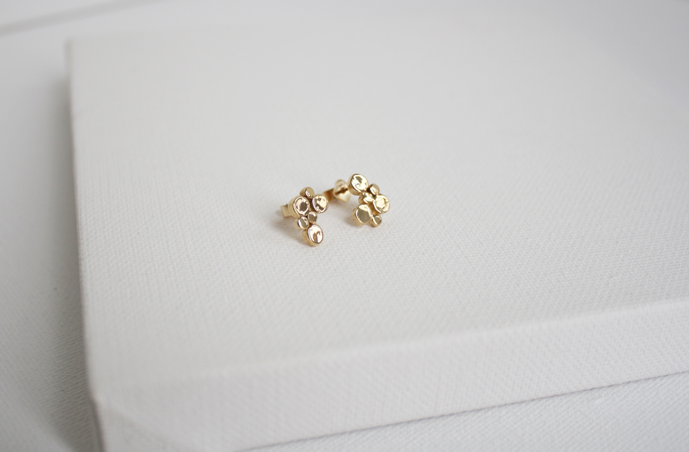 Ripple 14K Gold Earrigns