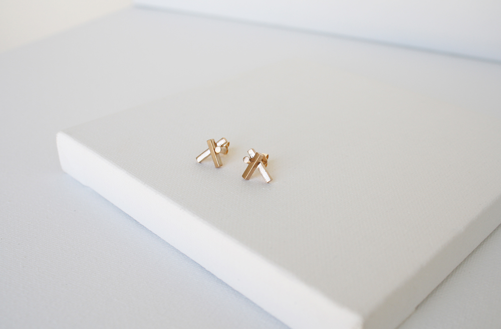 Pillars 14K Gold Earrings