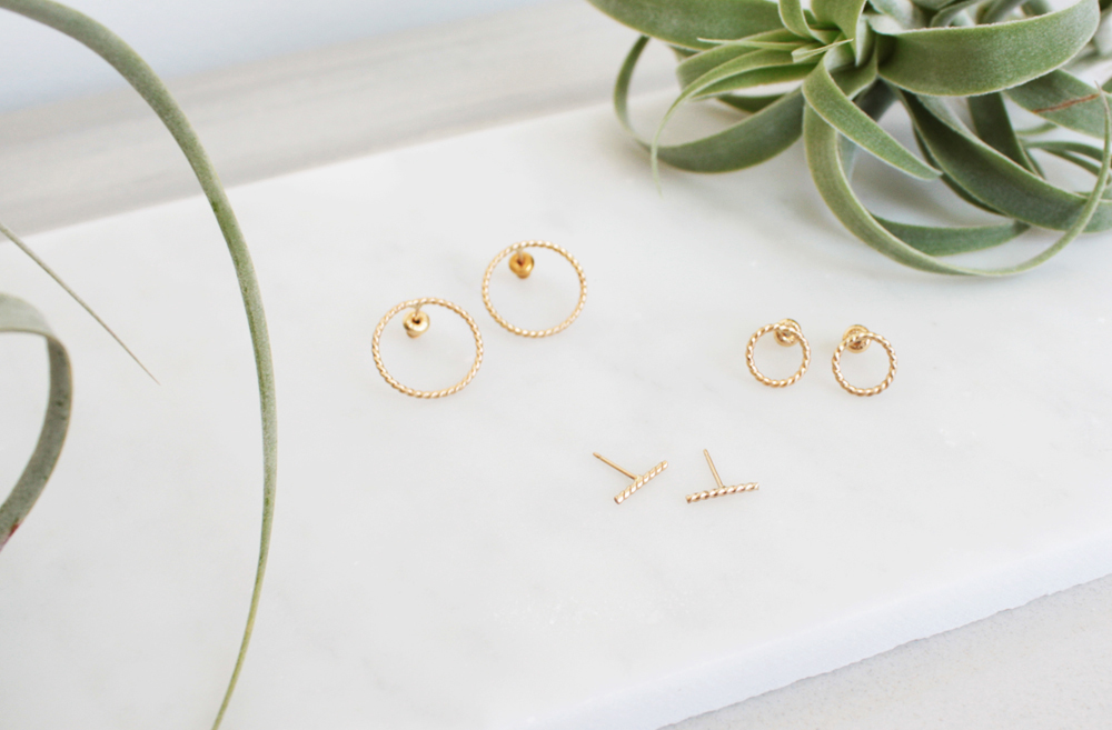 Twisted 14K Gold Earrings